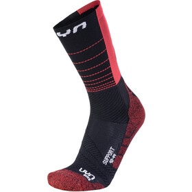 UYN Cycling Support Socks Herre black/hibiscus